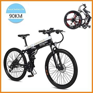 SupShop Bicicleta Eléctrica de montaña, Plegable Bicicleta 26