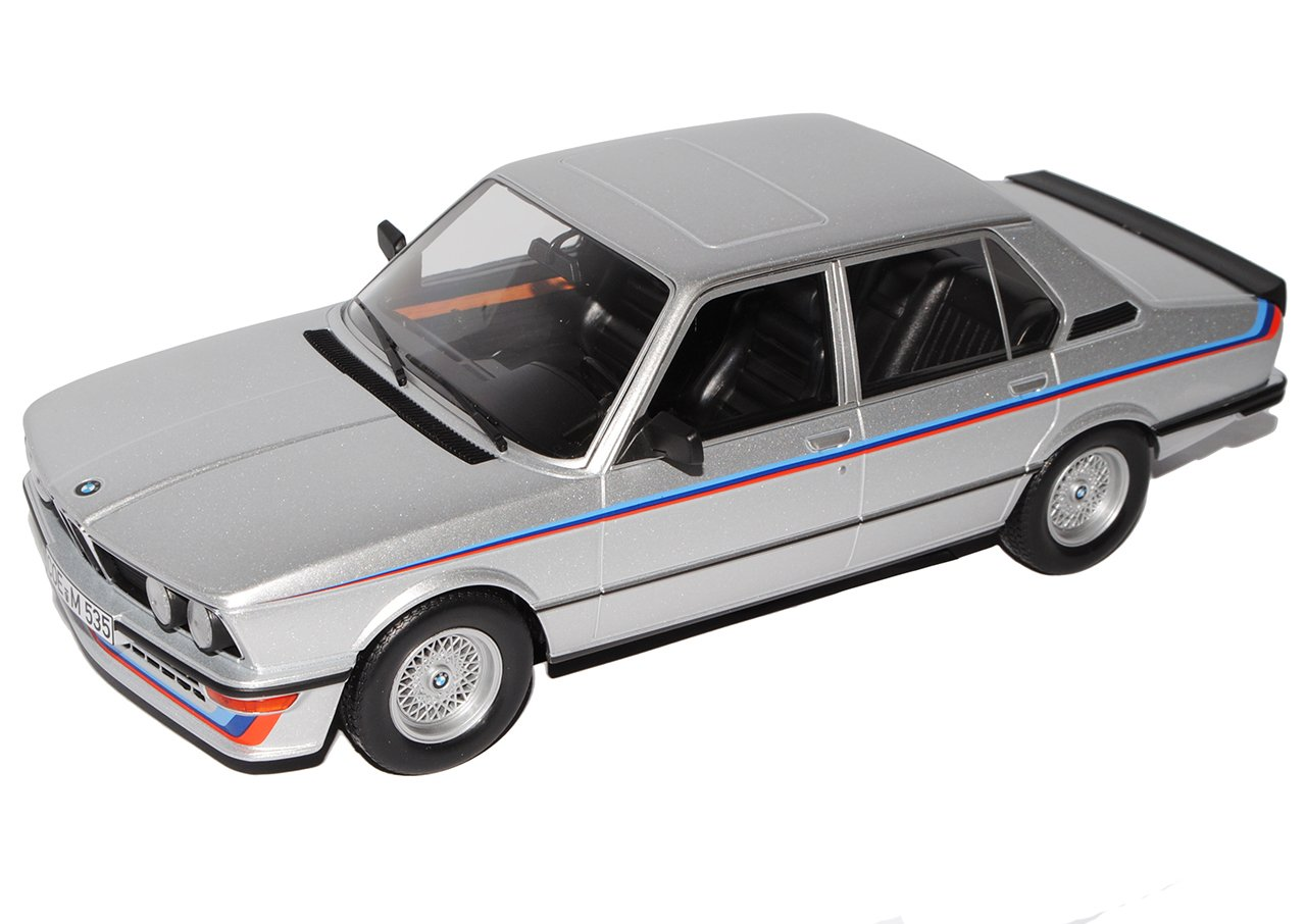 Alles-meine.de GmbH BMW 5er E12 M 535i Limousine Silber 1972-1981 1/18 Norev Modell Auto