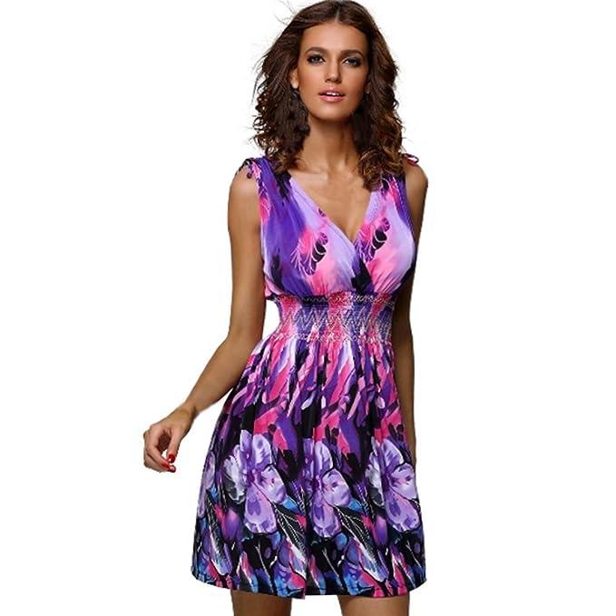 4024f37379bdc9 SANFASHION Bekleidung Vestito - Triangolo - Senza Maniche - Donna Lila 44:  Amazon.it: Abbigliamento