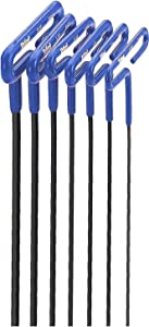 EKLIND 55166 Cushion Grip Hex T-Key allen wrench - 6pc set Metric MM sizes 2-6 (6In shaft)