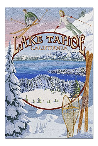 Lake Tahoe, California - Winter Views (20x30 Premium 1000 Piece Jigsaw Puzzle, Made in USA!)