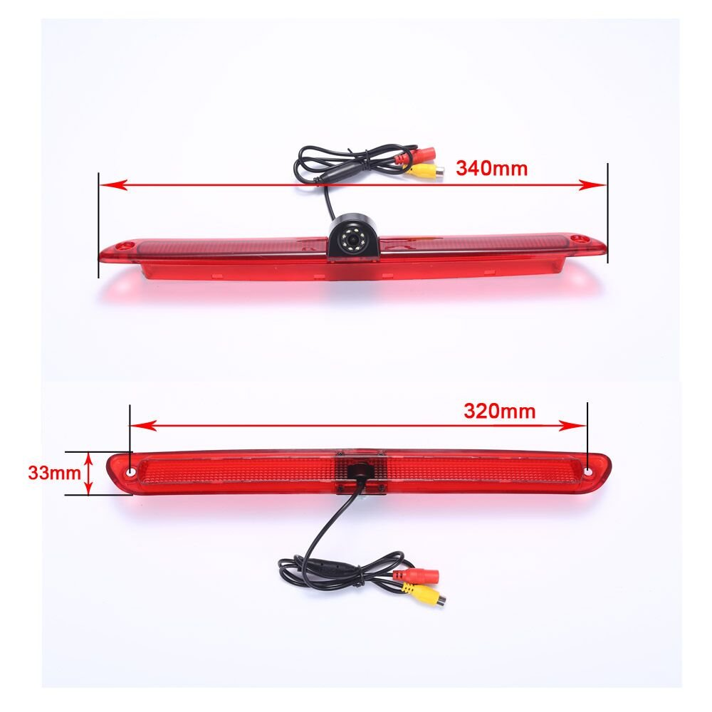 Model 1= Brake Light Camera Navinio Car Third Roof Top Mount Brake Lamp Camera Brake Light Rear View Backup Camera MB Sprinter W906 Van VW Crafter Transporter NVbenz01