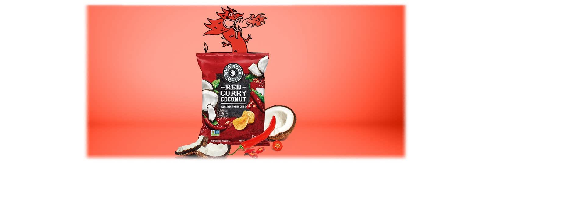 Amazon Red Rock Deli Style Potato Chips Red Curry Coconut 2