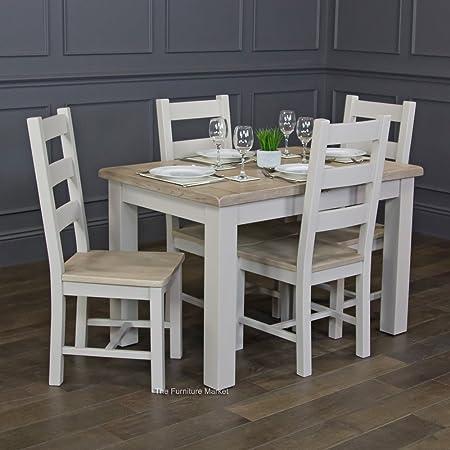 Chester Peinture Gris Petite Salle à Manger Extensible Table ...
