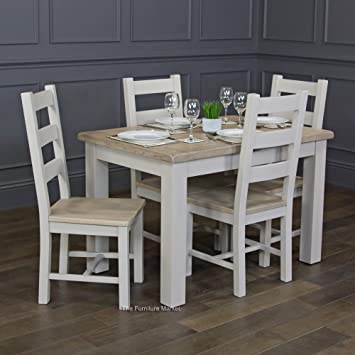 The Furniture Market Chester Grey Painted Small Extending Dining