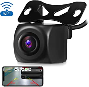 AUTOLOVER Wireless Backup Camera HD 720p Backup Camera for car, Vehicles WiFi Backup Camera with Night Vision / IP67 Waterproof for iPhone, iPad or Andriod Devices