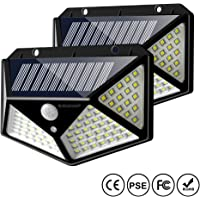 2 Pack IC ICLOVER 100 LED Waterproof Solar Motion Sensor Lights