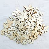 Wedding Touches Mixed Size Natural Wood Butterflies Plain Wooden Shabby Chic Craft Scrapbook Vintage Confetti Butterfly (250)