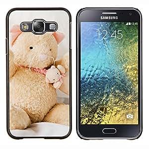 EJOOY---Cubierta de la caja de protección para la piel dura ** Samsung Galaxy E5 E500 ** --Naturaleza Rosa Bruma