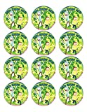 RICK & MORTY Cupcakes Image Photo Cake Topper Sheet Personalized Custom Customized Birthday Party - 12 CUPCAKES - 18069
