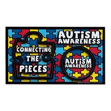 amazon com magnetic picture frame autism awareness puzzle piece