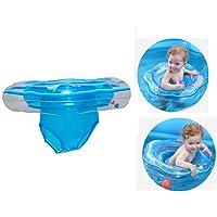 Baby Schwimmring, Schwimmsitz für Baby Aufblasbarer Schwimmtrainer Schwimmhilfe Schwimmreifen für Kleinkind von 6 Monate bis 3 Jahre mit 2 Luftkamme