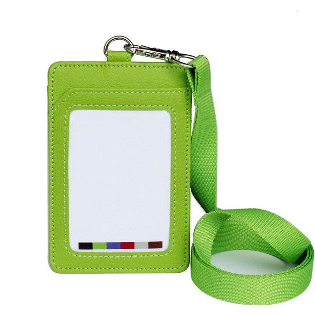 7.5cm Fablcrew Distintivo di titolare di carta didentit/à con lungo collo cordino Band per Ufficio size 11.2 Verde