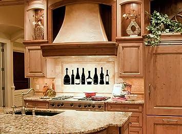 Amazon.com: 456Yedda Kitchen Decor Kitchen Wall Decal Wine ...
