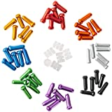 HZJD 48PCS Cable End Crimps, Bike Brake Cable caps, Cable Caps for Bike Shift Alloy,Bicycle Brake Cables End Caps, 6PCS O-Rin
