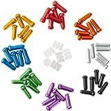 HZJD 48PCS Cable End Crimps, Bike Brake Cable caps, Cable Caps for Bike Shift Alloy,Bicycle Brake Cables End Caps, 6PCS…
