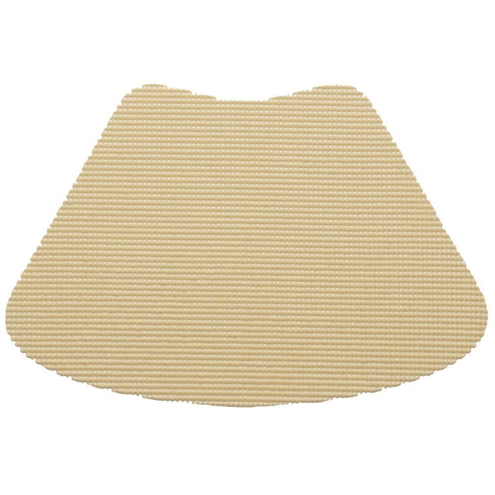 12 Piece Ivory Fishnet Placemat, Traditional Style, Lace Material, Solid Pattern, Wedge Shape, Machine washable, Perfect For Everyday, Fade Resistant And Durable, Dark Cream