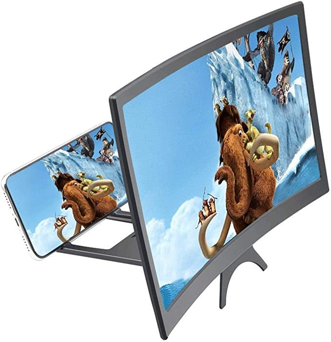 Amplifier Projector Magnifing Screen Enlarger for Movies and Gaming with Foldable Stand Videos Eubell 12inch 3D Curve Screen Magnifier for Cell Phone