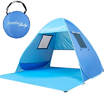 Sumbababy Beach Tent Automatic Pop Up Beach Sun Shelter Instant Portable Cabana Outdoors Quick UV Beach  sc 1 st  Amazon.com & Amazon.com: Sumbababy Beach Tent Automatic Pop Up Beach Sun ...