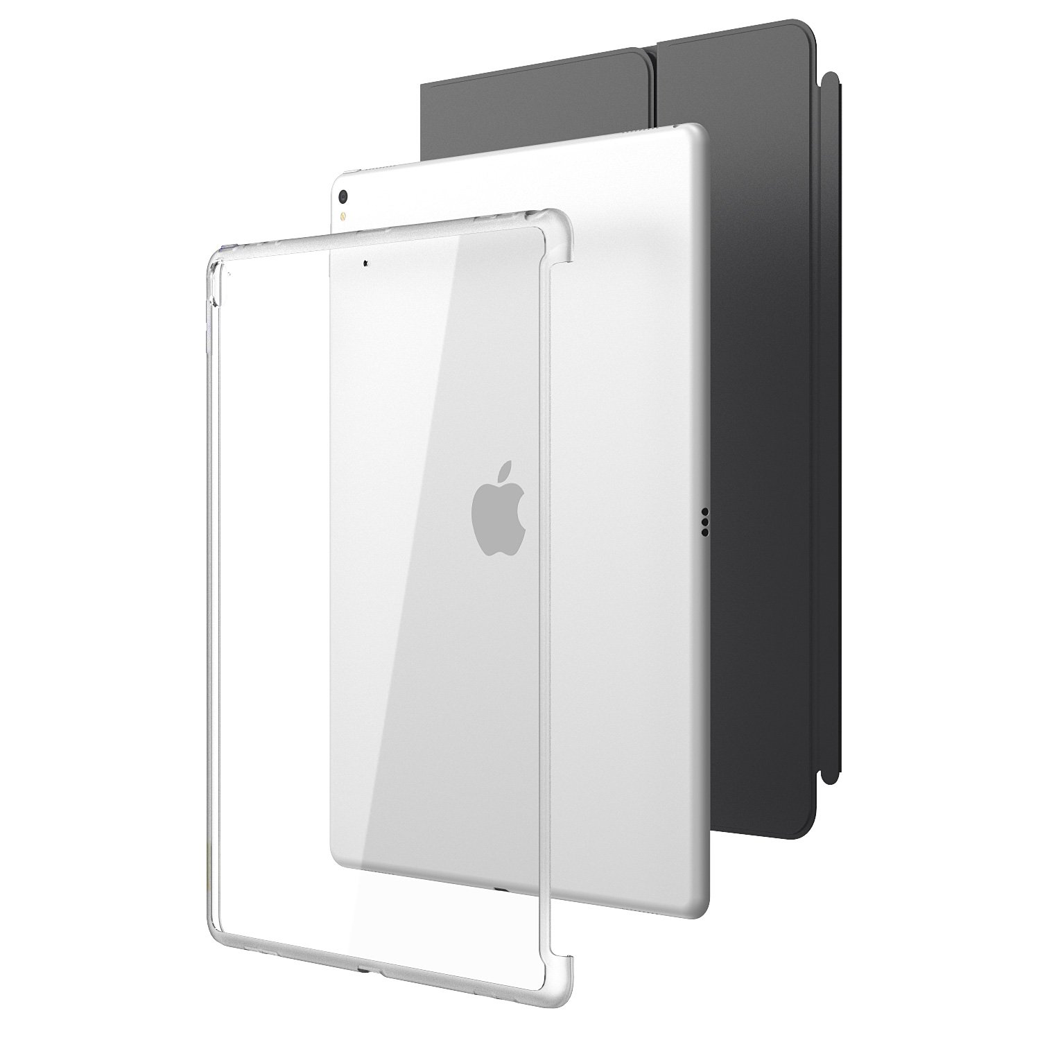New iPad Pro 12.9 2017 Case, i-Blason [Compatible with Official Smart Cover and Smart Keyboard] Clear Hybrid Cover Case for Apple iPad Pro 12.9 2017 ...