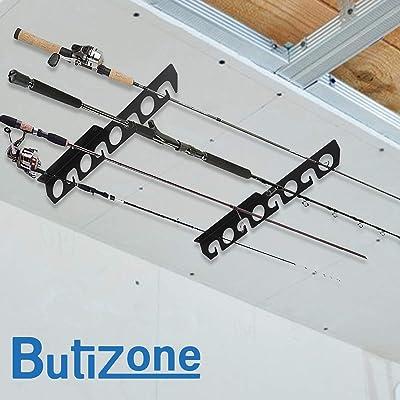 Fishing Rod Rack-Pole Reel Holder Garage Wall Ceiling Mount Storage