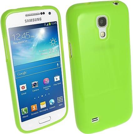 iGadgitz U2456 Verde Case TPU Gel Funda Cover Carcasa Compatible con Samsung Galaxy S4 SIV Mini I9190 I9195 Android Smartphone + Protector de Pantalla: Amazon.es: Electrónica