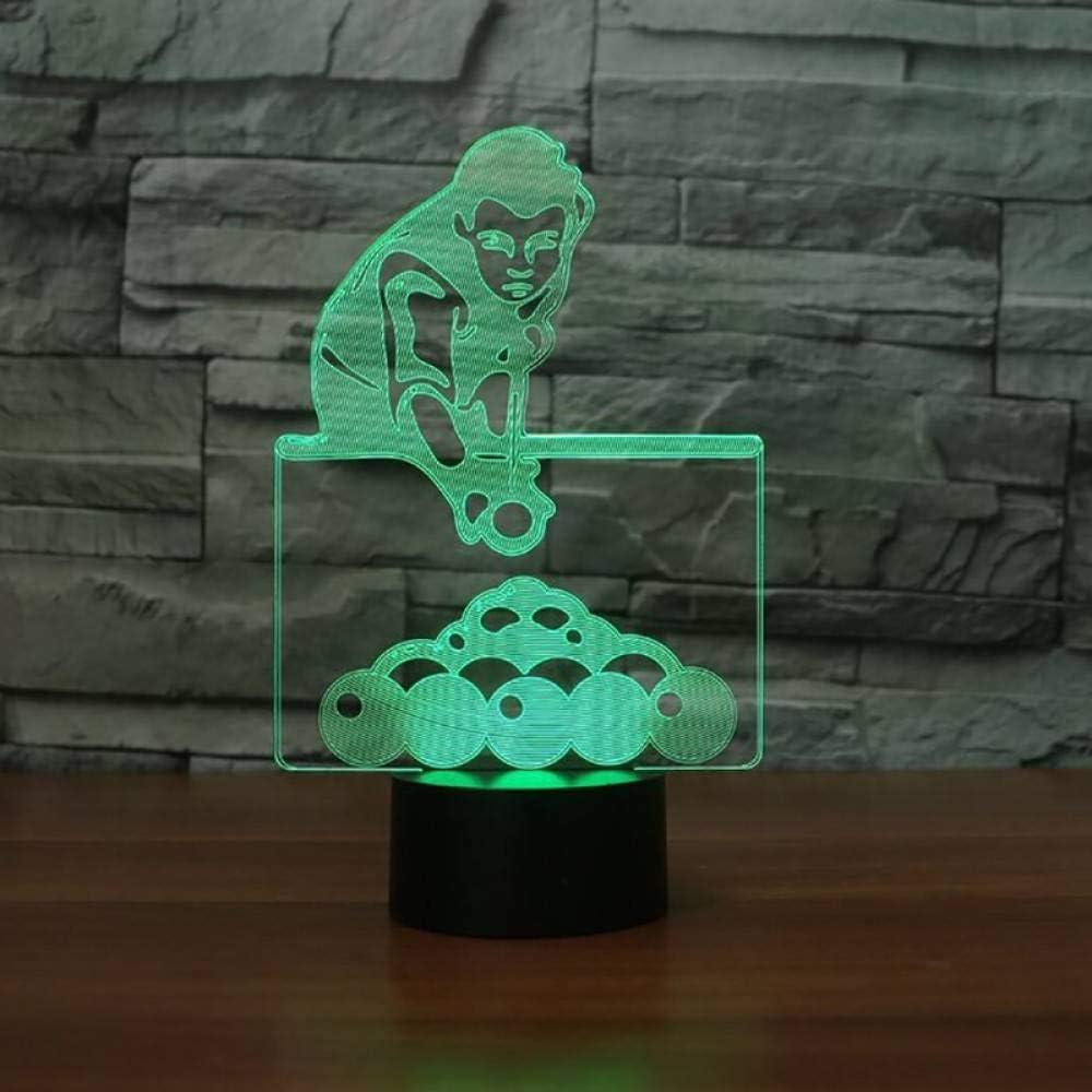 GBBCD Luz nocturna 7 colores que cambian el juego de billar hombre ...
