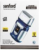 Sanford SF1977MS Double Blade Hair Clipper, Silver/Blue