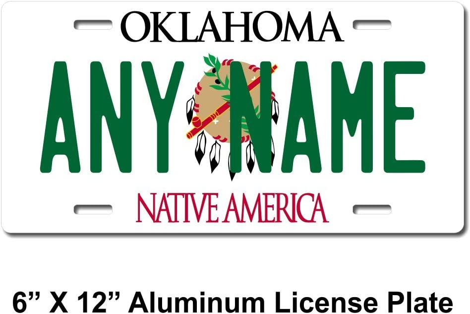 PERSONALIZED ALUMINUM BICYCLE MINI STATE LICENSE PLATE-OKLAHOMA WILD /& FREE