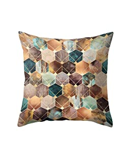 Meiyuan Geometric Pattern Cushion Cover Throw Pillow Case Home Bedroom Sofa Decor 15#