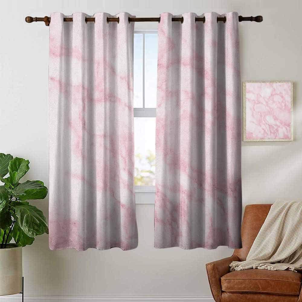 Multicolor,Blackout Thermal Insulated,Grommet Curtain Panel 1 Pair 42x45 petpany Customized Curtains Marble,Onyx Marble Motif Travertine Mineral Formed Watercolor Ink Textured Illustration