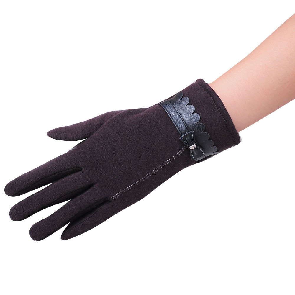 VENMO Mode Frauen Bowknot Winter warme Handschuhe Fäustlinge Winter Warm Outdoor Sport Wandern Radfahren Damen Herren Full Finger Touch Screen Handschuhe