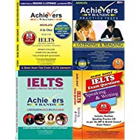 Combo 4 Achiever IELTS Books, 9 Bands 4 in one for Speaking, Writing of General, Academic Training, IELTS Listening and Reading Practice Set with Answer Keys, Sure Shot IELTS Speaking and Writing Exam Questions, Student's IELTS Practice Note Book