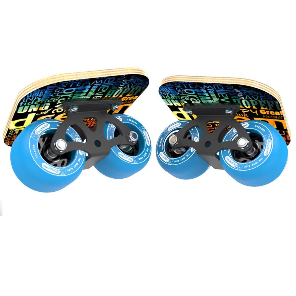 最も優遇の ドリフトフリーラインスケート大人のフラッシュの子供四輪スケートボード交通道路マットブラックハンドパターンを描いた B07FM2551B Blue B07FM2551B Blue Blue Blue, 上北町:00ebd00a --- a0267596.xsph.ru