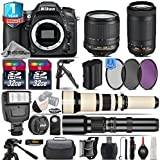 Holiday Saving Bundle for D7100 DSLR Camera + AF-P 70-300mm VR Lens + 650-1300mm Telephoto Lens + 18-105mm VR Lens + 500mm Telephoto Lens + 2 Of 32GB Card - International Version