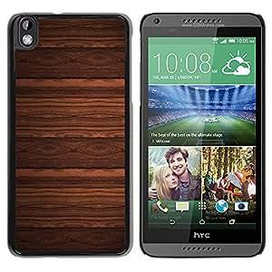 Qstar Arte & diseño plástico duro Fundas Cover Cubre Hard Case Cover para HTC DESIRE 816 ( Wallpaper Design Wood Imitation Brown)