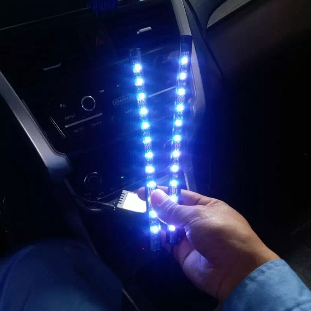 KKmoon Motorcycle LED Strip Lights Kit 8PCS Motorbike LED Lights Strips Multi-Color Lights Lamp Controlled by Remote