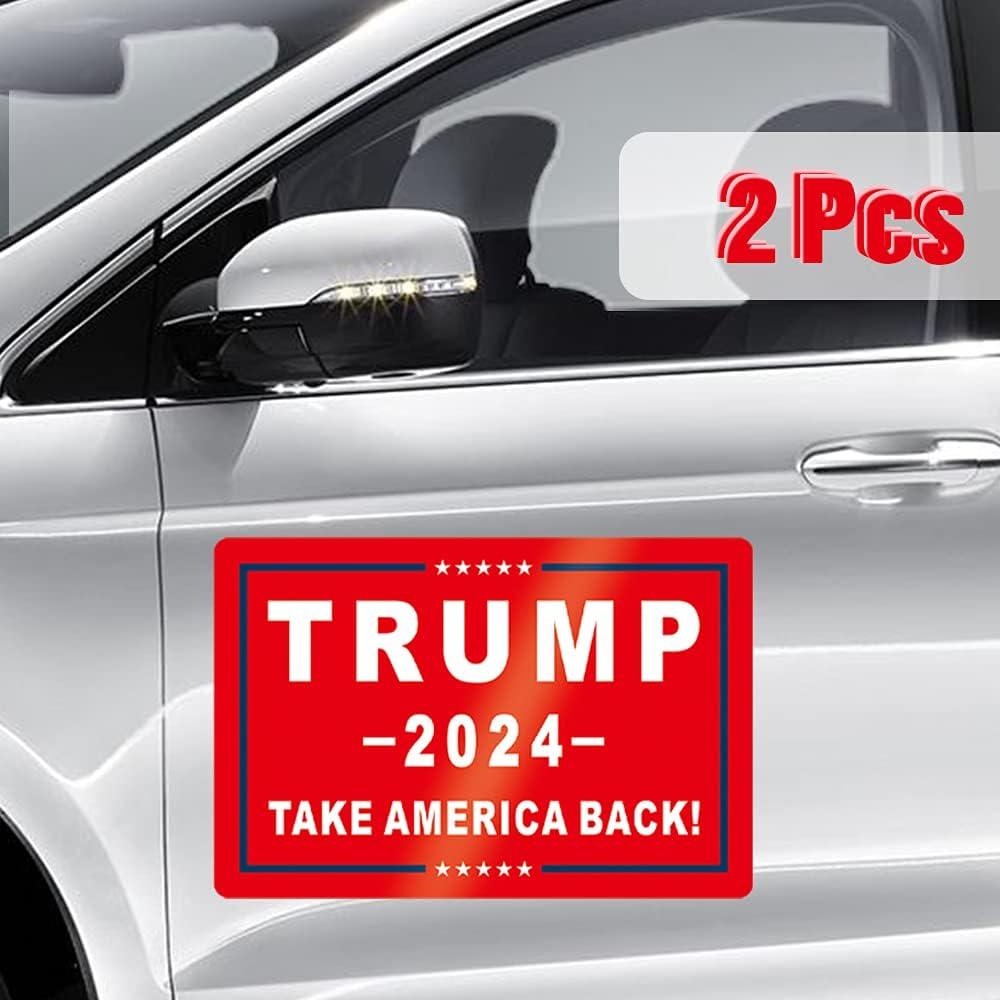 Amazon Com Qsum Trump Magnet Sticker 2024 2 Pack Save America Again Bumper Car Stickers For 47th Presidential Election Day Celebration Parades Event Automotive [ 1000 x 1000 Pixel ]