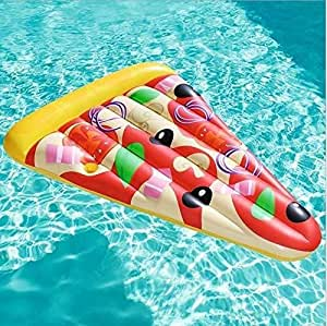 Mihaojianbing Fila Flotante de la Pizza, Juguete Inflable de ...