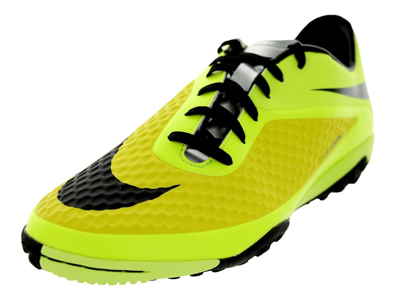 Amazon.com   Nike Mens Hypervenom Phelon TF Vbrnt Yllw/Blk/Mtllc Slvr/Vlt  Turf Soccer Shoe 9 Men US   Soccer
