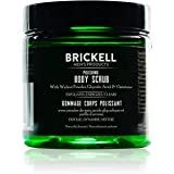 Brickell Men's Polishing Body Scrub for Men, Natural and Organic Body Exfoliator to Remove Dirt, Prevent Blemishes, and Brigh