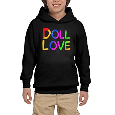 HUH HOODIES Doll Love Colortone Mens Athletic Pullover Hoodies Funny Sweatshirts With Pocket
