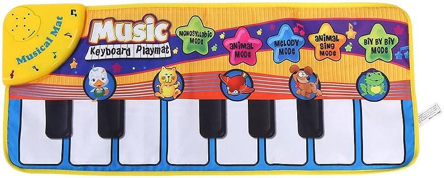 FTVOGUE Bebé Electrónico Música de Piano Estera de Juego Sonidos de Animales Teclado Musical Rastreo Manta Niños Regalo de los niños