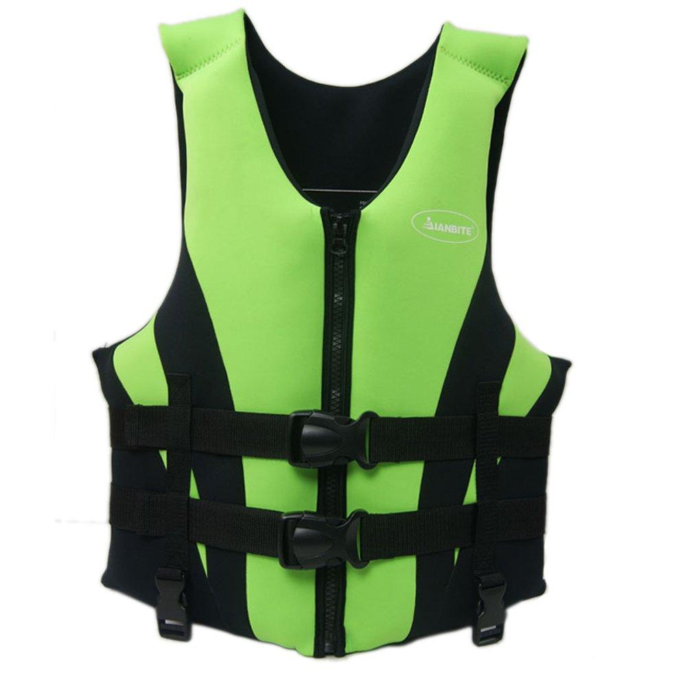 Thickened Professional大人用Lifejacket Swim Lifejackets浮力ベスト B01LZK06HF  グリーン XXL