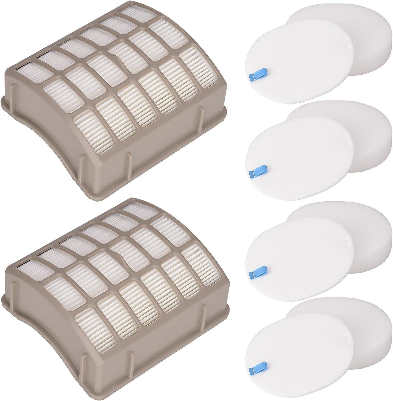 Laukowind 4 Foam Filters + 2 HEPA Filters Compatible for Shark Navigator Professional Upright Vacuums NV60, NV70 Shark Vacuum Filter, NV70 26, NV71, NV90, UV420, NV90 26, NV95, NV80, and NVC80C.: Appliances