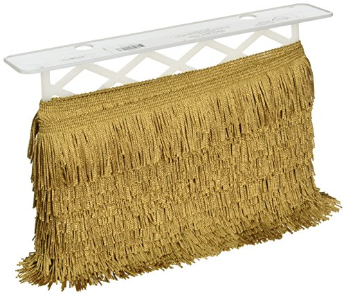 Chainette Fringe Wide 20 Yards Gold