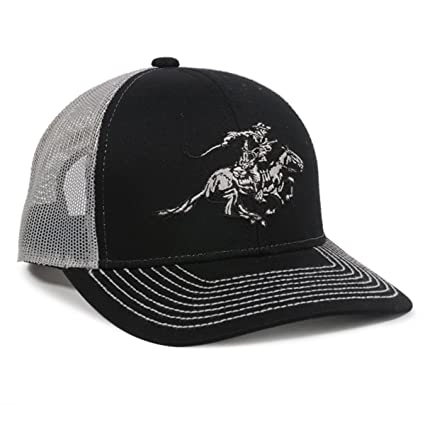 Amazon.com  Winchester Horse Rider Mesh Back Black White Hunting Hat ... 342951a4626d