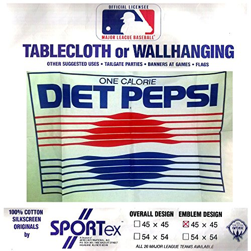 Sportex Tablecloth Or Wall-hanging One Calorie Diet Pepsi Logo Design 100% Cotton Silkscreen 45