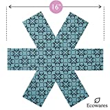 Pot & Pan Protectors - Set of 12 by Ecowares - Thick & Large 16 Inches Wide - Blue Print - Luxury Divider Pads to Prevent Scratching, Separate and Protect Surfaces of Your Cookware - for Home and RV