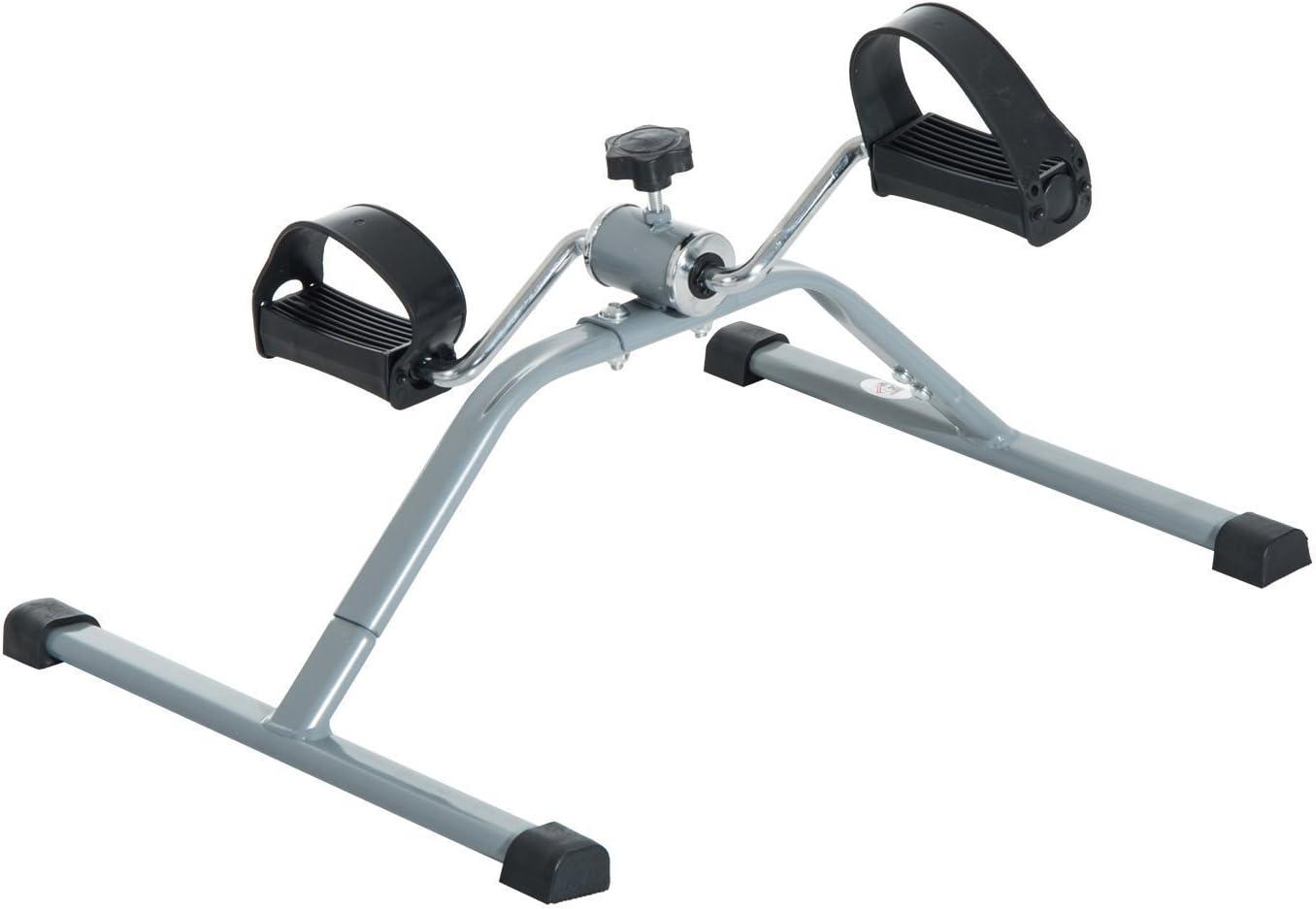 HOMCOM Mini Bicicleta Estática de Acero para Pedalear Aparato de Ejercicios 2 en 1 Brazos y Piernas 40x53x29cm